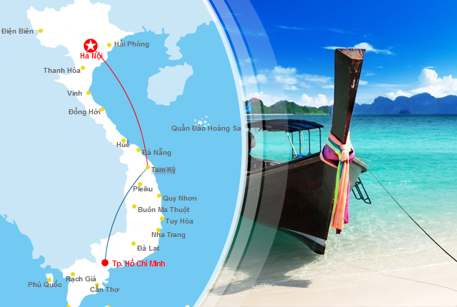 Vé máy bay đi Chu Lai, gần Tam Kỳ