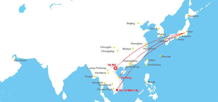 Lịch bay giờ bay từ Nhật về Việt Nam hôm nay