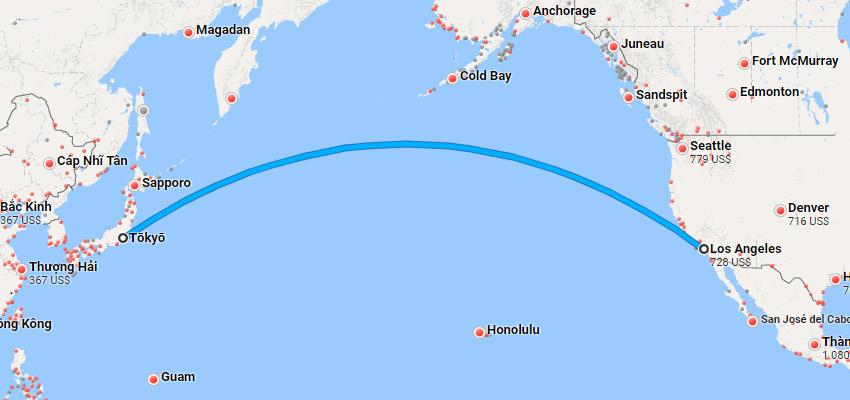 Thời gian bay từ Nhật sang Mỹ mất bao lâu vậy?