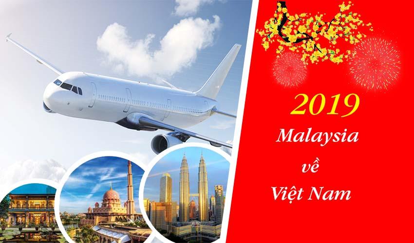 Các chuyến bay từ Malaysia về Việt Nam trong dịp lễ tết đầu xuân