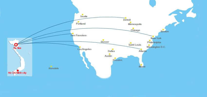 Lịch các chuyến bay từ Mỹ về Việt Nam ra sao
