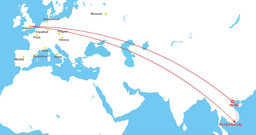Lịch bay từ Anh Quốc về Việt Nam mới nhất