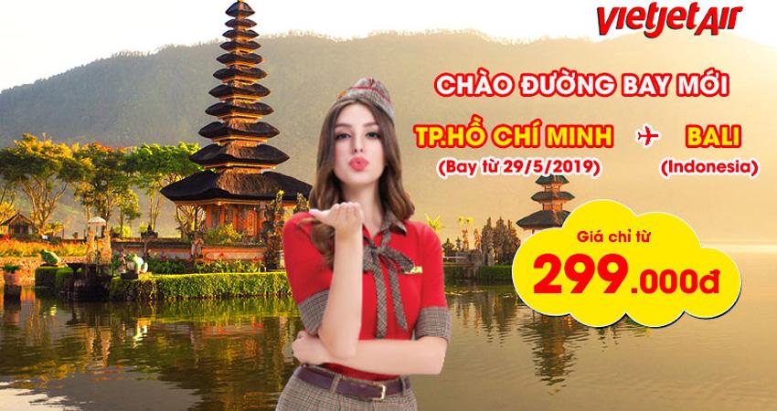 Vé máy bay đi Bali Vietjet bay thẳng giá lại còn rẻ nữa đi thôi