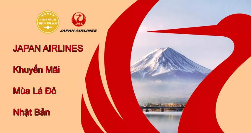Vé máy bay đi Nhật Japan Airlines giá đang có nhiều khuyến mãi