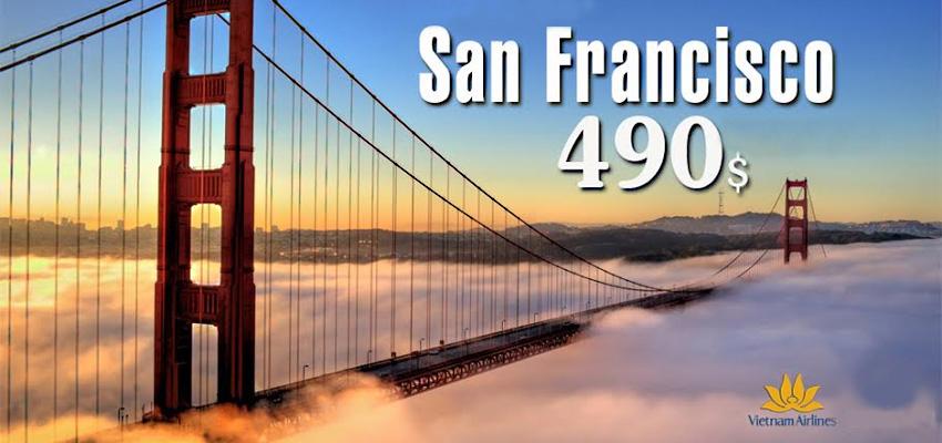 Vé máy bay đi San Francisco của Vietnam Airlines bao nhiêu tiền