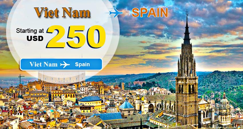 Vé máy bay đi Tây Ban Nha bao nhiêu tiền khứ hồi năm nay