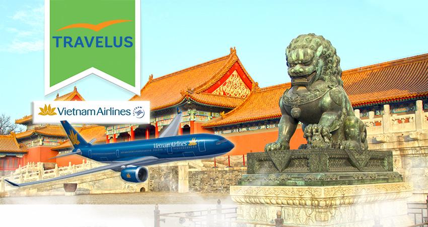 Vé máy bay đi Trung Quốc Vietnam Airlines giá bao nhiêu tiền