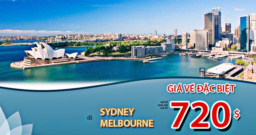 Vé máy bay đi Úc khuyến mãi mới nhất cập nhập từng ngày