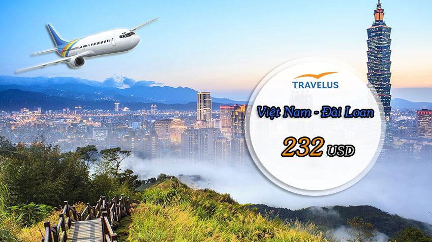 Vé máy bay đi Đài Loan khứ hồi giá rẻ ưu đãi đặc biệt