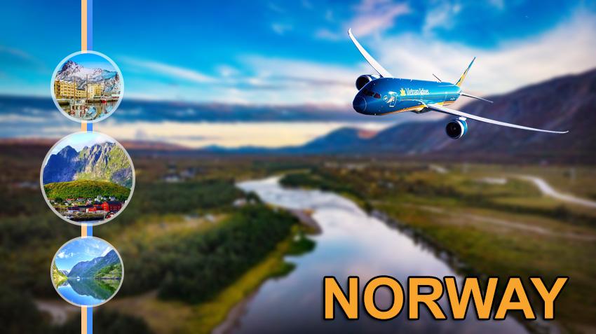 Vé máy bay đi Nauy Vietnam Airlines giá rẻ ưu đãi cực lớn