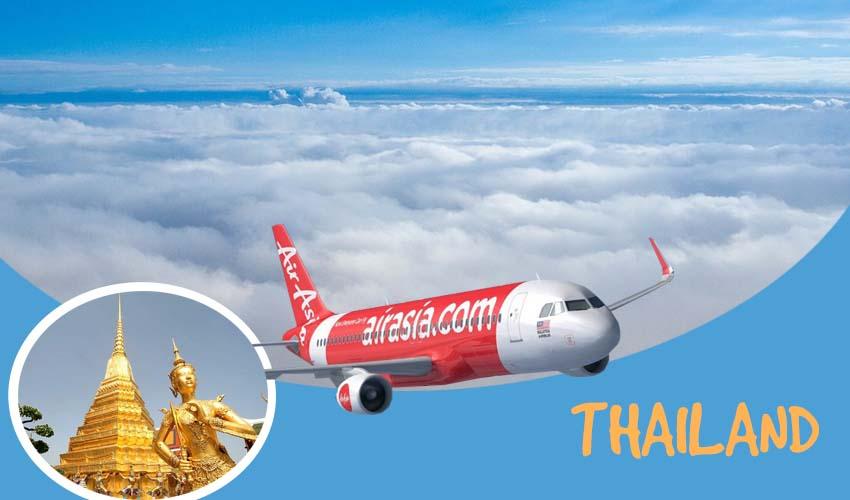 Vé máy bay giá rẻ đi Thái Lan Air Asia đang HOT từng ngày