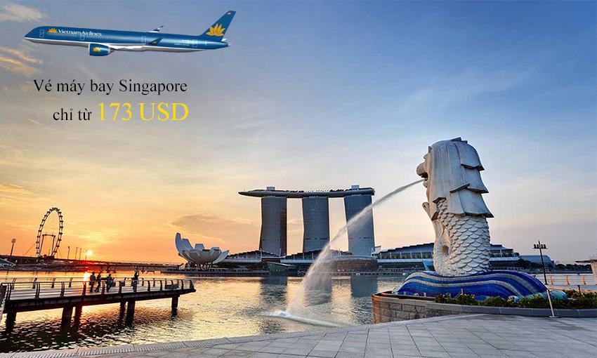 Vé máy bay đi Singapore của Vietnam Airlines mới cập nhật