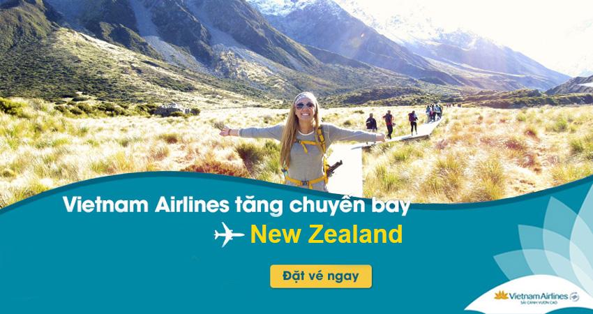 Vé máy bay đi New Zealand Vietnam Airlines bao nhiêu